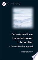 Behavioral Case Formulation and Intervention