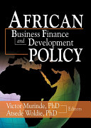 African Development Finance and Business Finance Policy Pdf/ePub eBook