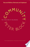 link to Community the structure of belonging in the TCC library catalog