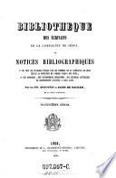 Bibliothèque des écrivains de la Compagnie de Jésus, ou notices bibliographiques ...
