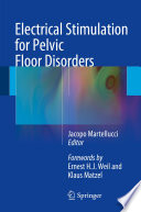 Electrical Stimulation for Pelvic Floor Disorders Book