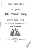 Proceedings of the New Jersey State Horticultural Society at Its ... Annual Meeting in ...