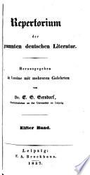 Repertorium der gesammten deutschen Literatur