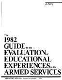 The 1982 Guide to the Evaluation of Educational Experiences in the Armed Services
