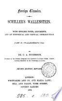Schiller's Wallenstein, with Engl. notes, arguments and an intr. by C.A. Buchheim