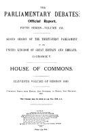 Parliamentary Debates  Official Report s