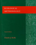 Cover of Ecological Methodology