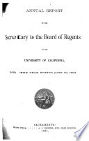 Annual Report of the Secretary to the Board of Regents