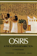 Osiris and the Egyptian Resurrection Pdf/ePub eBook