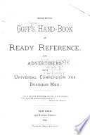 Goff S Hand Book Of Ready Reference For Advertisers