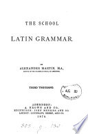 The school Latin grammar