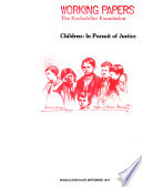 Children, in Pursuit of Justice