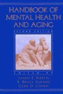 Handbook of Mental Health and Aging