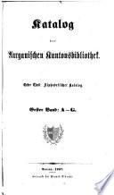 Katalog der Aargauischen Kantonsbibliothek