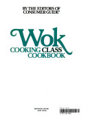 Wok Cooking Class Cookbook Book