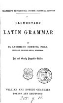 Pdf Elementary Latin grammar. [With] Latin exercises