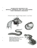 Information Resources for Reptiles, Amphibians, Fish, and Cephalopods Used in Biomedical Research