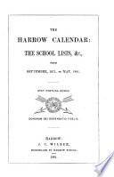 The Harrow calendar