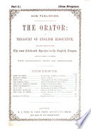 The Orator A Treasury Of English Eloquence