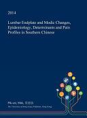 Lumbar Endplate and Modic Changes  Epidemiology  Determinants and Pain Profiles in Southern Chinese