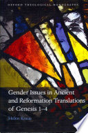 Gender Issues In Ancient And Reformation Translations Of Genesis 1 4