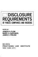 Disclosure Requirements of Public Companies and Insiders
