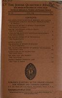 The Jewish Quarterly Review Book PDF