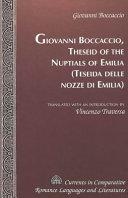 Giovanni Boccaccio, Theseid of the Nuptials of Emilia