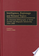 Intelligence Espionage And Related Topics