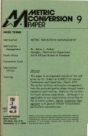 Metric Conversion Paper  Metric transition management
