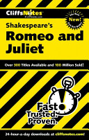 CliffsNotes on Shakespeare s Romeo and Juliet Book