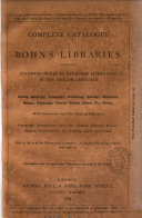 Complete catalogue of Bohn s libraries