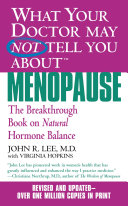 Pdf What Your Doctor May Not Tell You About(TM): Menopause Telecharger
