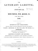 Literary Gazette and Journal of Belles Lettres science  and Art