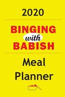 2020 Binging With Babish Meal Planner