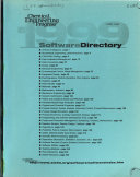 Chemical Engineering Progress Annual Software Directory