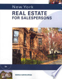 New York Real Estate for Salepersons, 5th ed.