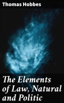 Pdf The Elements of Law, Natural and Politic Telecharger