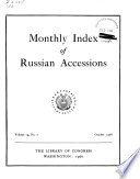 Monthly Index of Russian Accessions