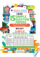 Oswaal CBSE Sample Question Paper Class 12 Biology (For 2020 Exam)