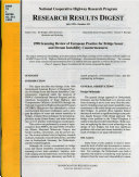 Research Results Digest   National Cooperative Highway Research Program