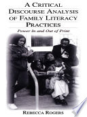 A Critical Discourse Analysis of Family Literacy Practices