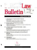School Law Bulletin
