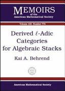Derived l-Adic Categories for Algebraic Stacks