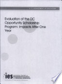 Evaluation of the DC opportunity scholarship program impacts after one year Book PDF
