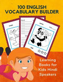 100 English Vocabulary Builder Learning Books for Kids Hindi Speakers