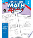 Common Core Math 4 Today  Grade 2 Book