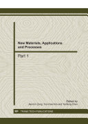 New Materials  Applications and Processes