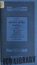 Hodgson's Rooms catalogue