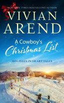 Pdf A Cowboy's Christmas List Telecharger